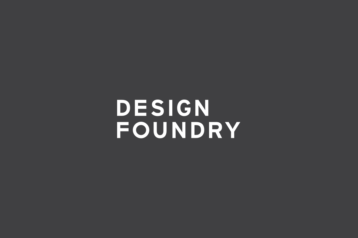 Design Foundry Logo Stacked Reversed Out
